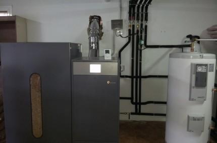 Instalación caldera Biomasa